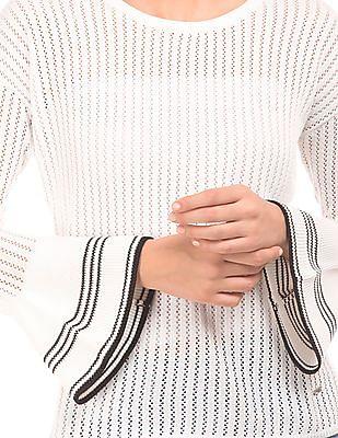 Elle Bell Sleeve Open Knit Sweater