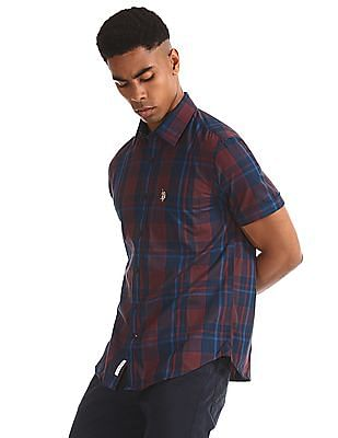 U.S. Polo Assn. Red Check Cotton Shirt