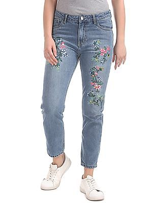 SUGR Regular Fit Embroidered Jeans