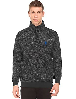 U.S. Polo Assn. Space Dyed Zip Up Sweatshirt
