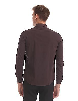 Arrow Newyork Slim Fit Tonal Stripe Shirt