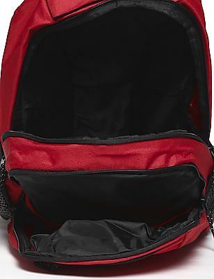 Flying Machine Red Brand Print Laptop Backpack