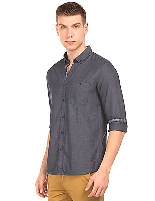 Cherokee Heathered Button Down Shirt