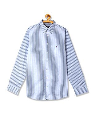 Gant Tech Prep Stripe Regular Fit Long Sleeve Button Down Shirt