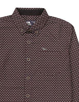 FM Boys Boys Geometric Print Button Down Shirt