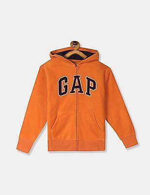GAP Orange Boys Hooded Fleece Sweatshirt