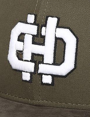 Ed Hardy Embroidered Logo Flat Visor Cap