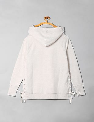 GAP Lace Up Hooded Sweatshirt