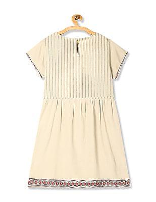 Bronz Short Sleeve Tie Up Waist Tunic