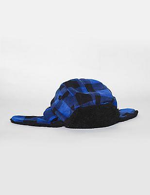 GAP Toddler Boy Blue Pro Fleece Trapper Hat