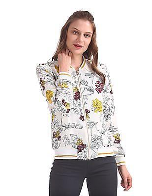 SUGR Floral Print Bomber Jacket