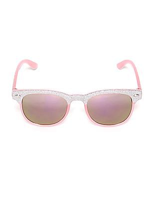 The Children's Place Pink Toddler Girl Glitter Clubmaster Sunglasses