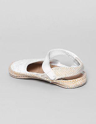 GAP Baby White Eyelet Espadrille Sandals