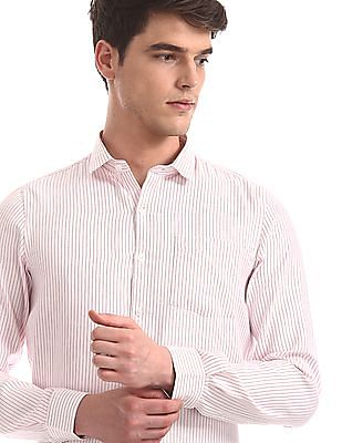 Excalibur Assorted Mitered Cuff Patterned Stripe Shirt - Pack Of 2