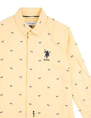 U.S. Polo Assn. Kids Boys Printed Long Sleeved Shirt