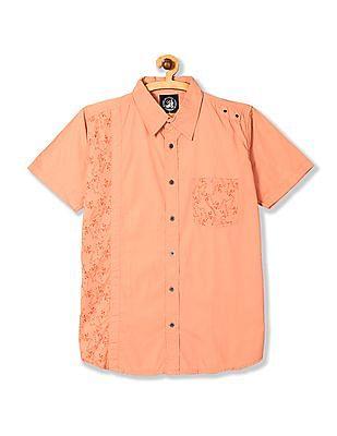 Flying Machine Short Sleeve Printed Shirt