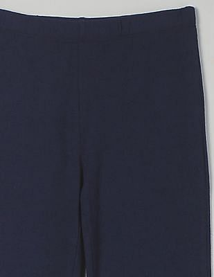 GAP Girls Blue Solid Leggings