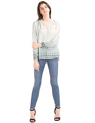 GAP Silky Split Neck Blouse