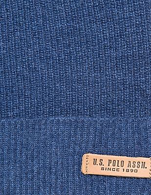 U.S. Polo Assn. Ribbed Lambswool Beanie