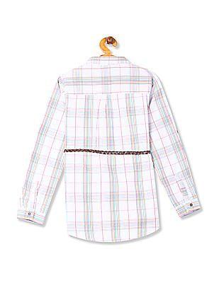 Cherokee Girls Check Belted Tunic