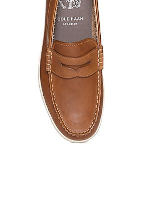 Cole Haan Burnished Leather Penny Loafers