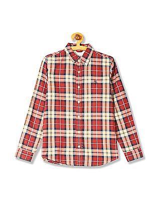 U.S. Polo Assn. Kids Boys Check Cotton Shirt
