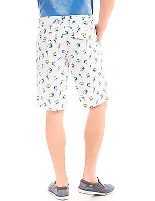Bayisland Toucan Print Slim Fit Shorts