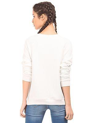 EdHardy Women Raglan Sleeve Printed Sweatshirt