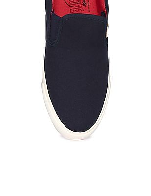 Flying Machine Contrast Sole Canvas Slip On Shoes