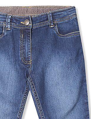 U.S. Polo Assn. Kids Girls Stone Wash Capri Jeans