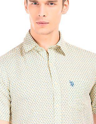 U.S. Polo Assn. Printed Linen Cotton Shirt