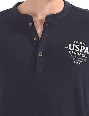 U.S. Polo Assn. Denim Co. Printed Henley T-Shirt