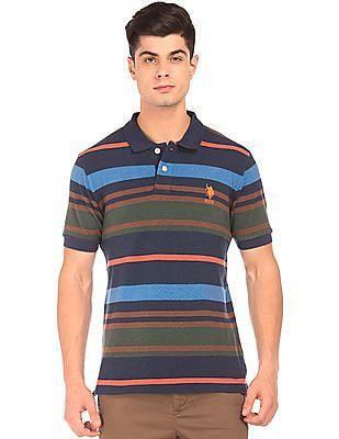 U.S. Polo Assn. Slim Fit Striped Polo Shirt