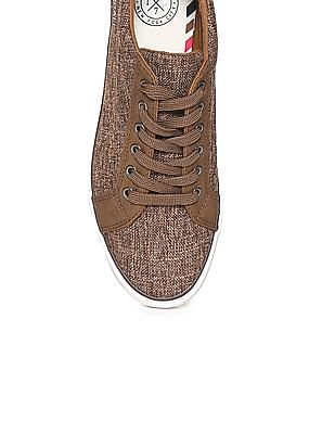 Aeropostale Patterned Weave Lace Up Sneakers