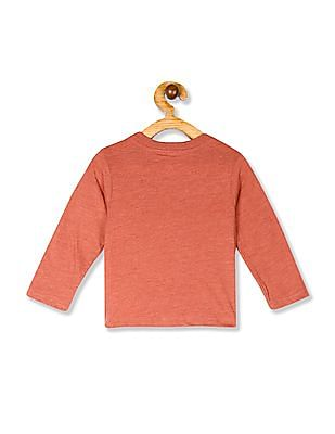 The Children's Place Red Toddler Boys Ribbed Neck Graphic T-Shirt