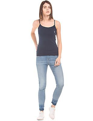 U.S. Polo Assn. Women Solid Cotton Camisole