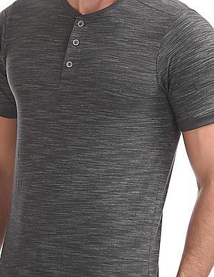 Cherokee Short Sleeves Henley T-Shirt