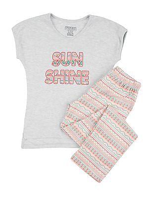 Cherokee Girls T-Shirt and Lounge Pants Set