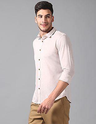 True Blue Slim Fit Slub Knit Shirt