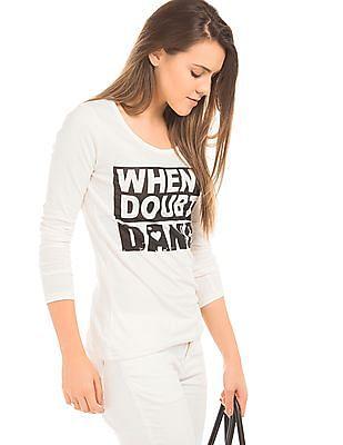 Flying Machine Women Printed Long Sleeve T-Shirt