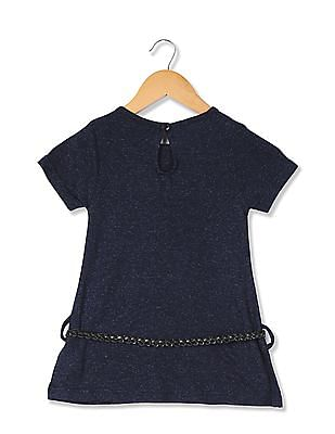 Cherokee Girls Solid Belted Tunic