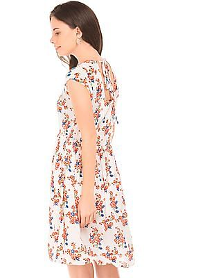 SUGR Floral Print Fit And Flare Dress