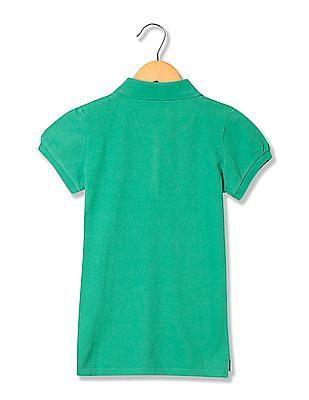 U.S. Polo Assn. Kids Girls Standard Fit Short Sleeve Polo Shirt