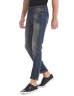 Ed Hardy Skuller Super Slim Fit Stone Wash Jeans