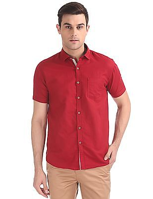 Cherokee Contemporary Fit Linen Shirt