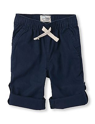The Children's Place Toddler Boy Blue Roll Up Pants