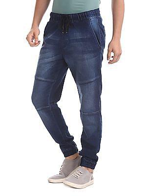 Colt Blue Drawstring Waist Jogger Jeans