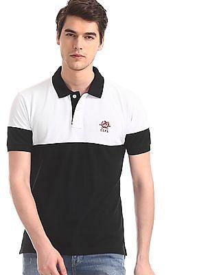 067c112a4db U.S. Polo Assn. Black Colour Block Pique Polo Shirt. SHOP NNNOW