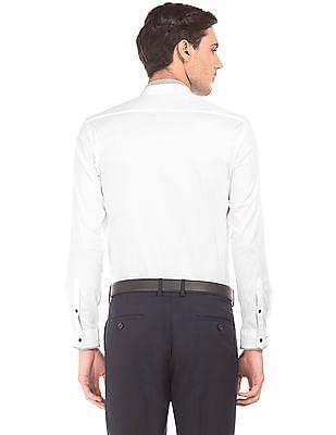 Arrow Newyork Mandarin Collar French Placket Shirt