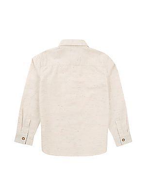 FM Boys Boys Slim Fit Heathered Shirt